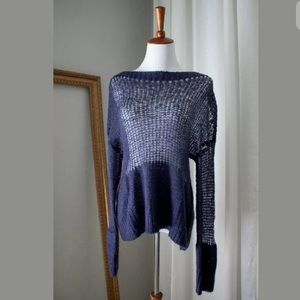 *SOLD on eBay* - NEW Navy Sheer Knitted Sweater